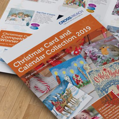 Front of the Christmas Card and Calendar Collection brochure